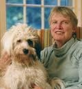 Lois Lowry with her dog